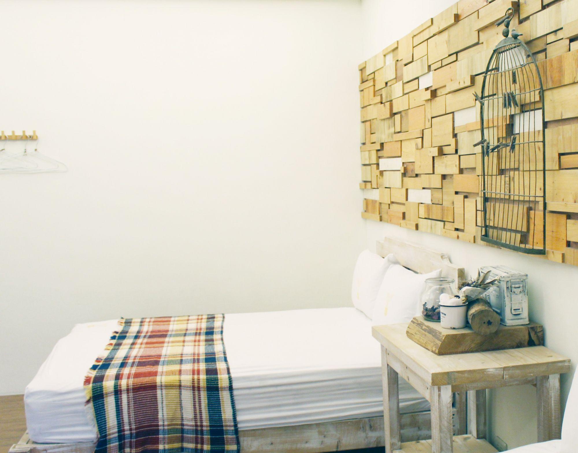 Camera matrimoniale: tartan per rivestimenti letto e coperte