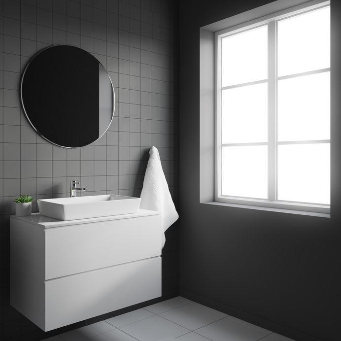 Piastrelle quadrate: classiche a parete con colori contemporanei