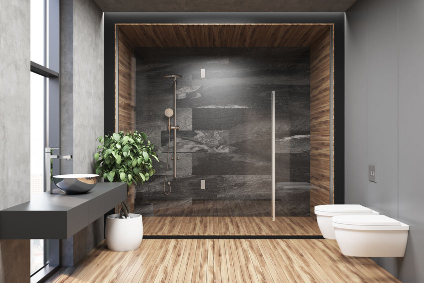 doccia ampia ed elegante