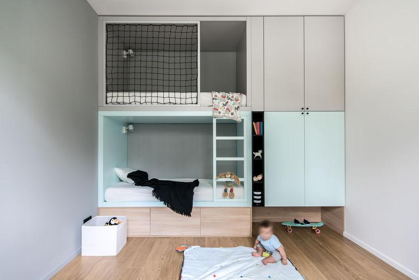 Unica parete attrezzata per una soluzione lineare e pulita