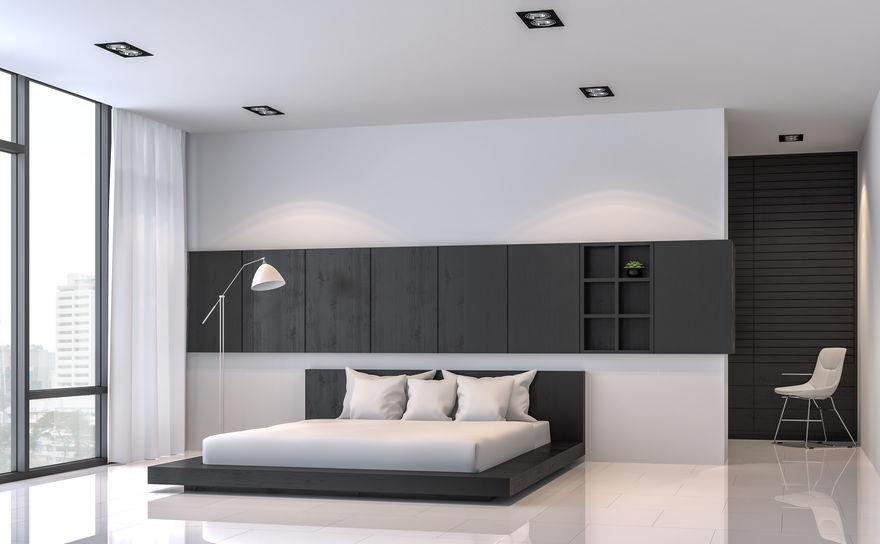 parete divisoria dietro al letto