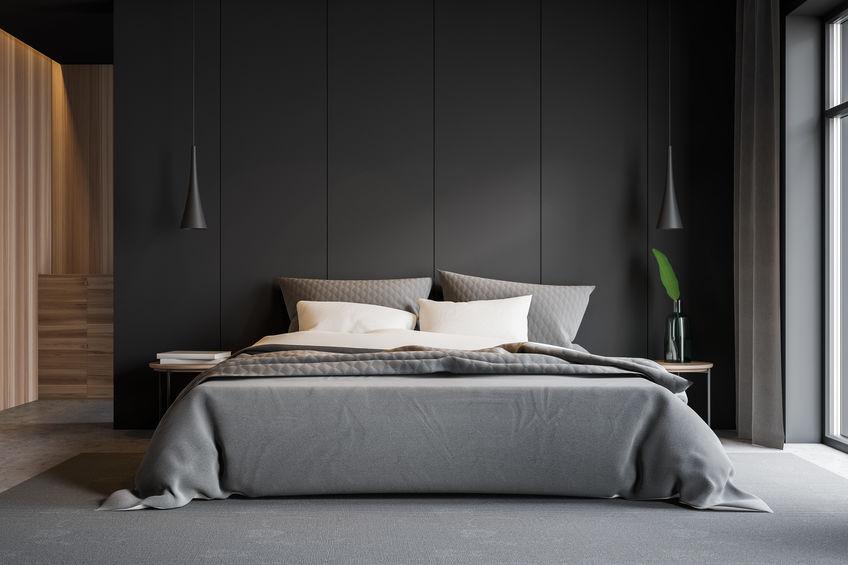 camera da letto colori scuri
