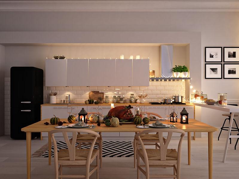 Cucina lineare: illuminazione adeguata