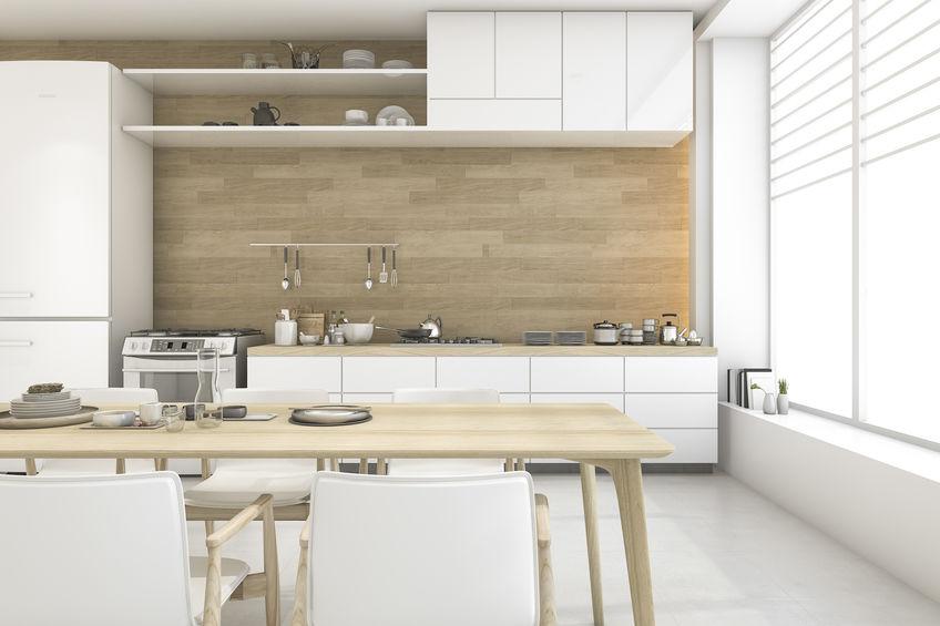 Cucina lineare: elettrodomestici al punto giusto