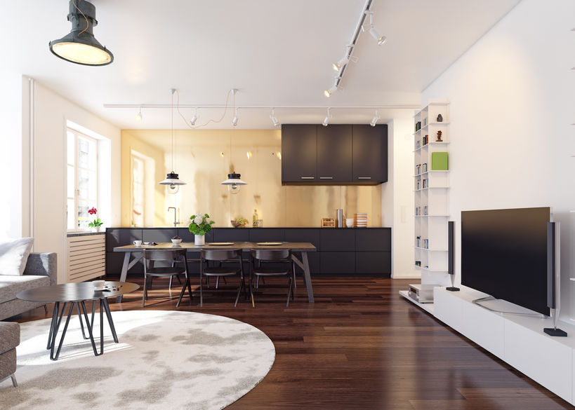 Cucina lineare di stile: materiali e colori adatti