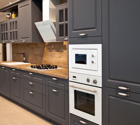 Cucina lineare di stile: tutti i pro