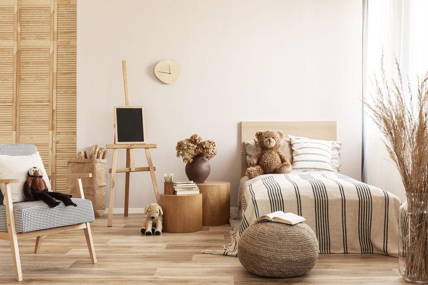 Cameretta in stile scandinavo: legno, legno, legno!