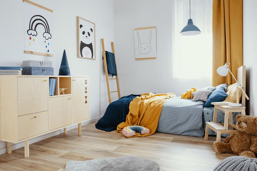 Idee per una cameretta per bambini dal sapore scandinavo