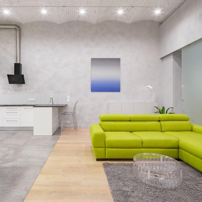 Pavimenti diversi: separare la cucina dal soggiorno