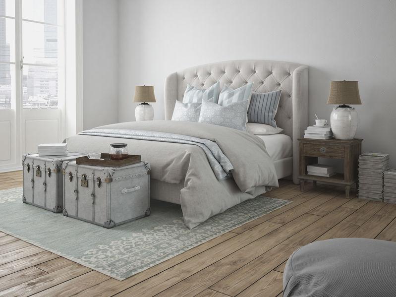 Bauli vintage: utili piani d'appoggio nella camera da letto