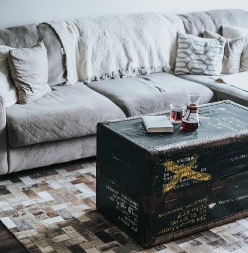 Bauli vintage: tavolini trendy  e chic in soggiorno