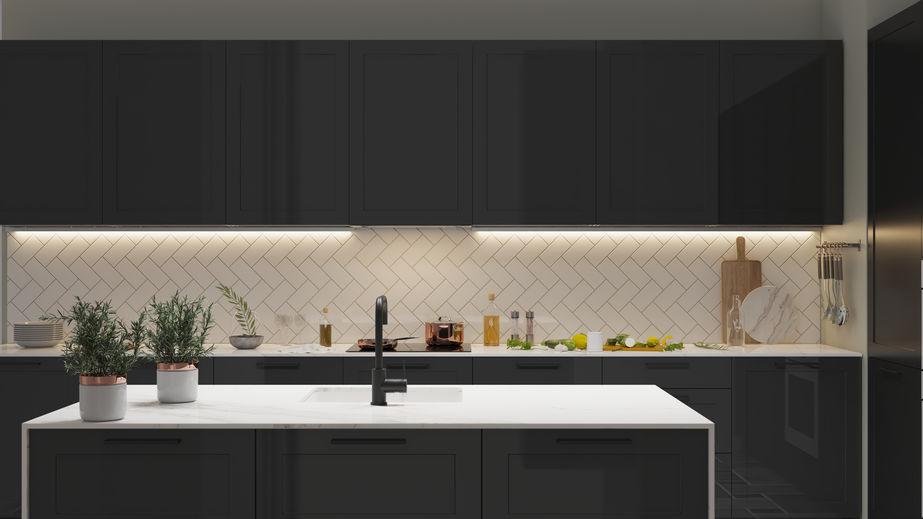 Idee per un paraschizzi in bianco in cucina