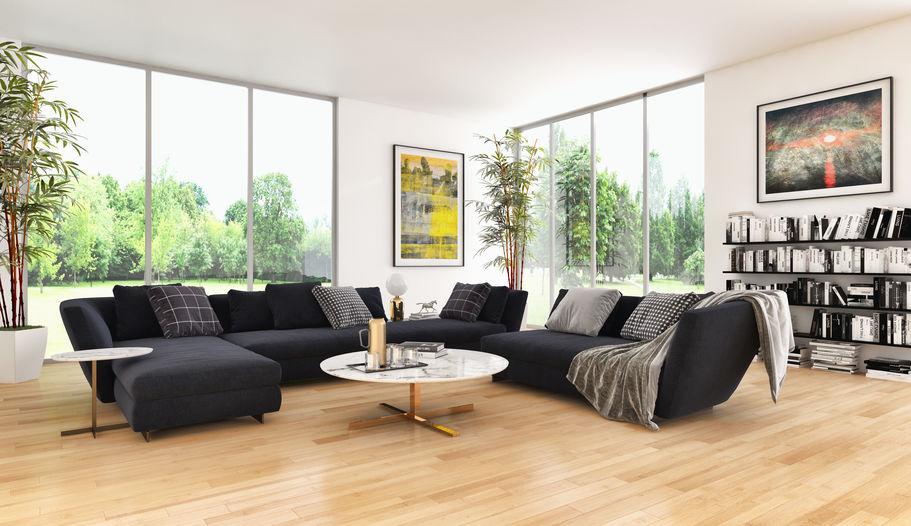 Come sistemare i divani in una zona giorno di tendenza