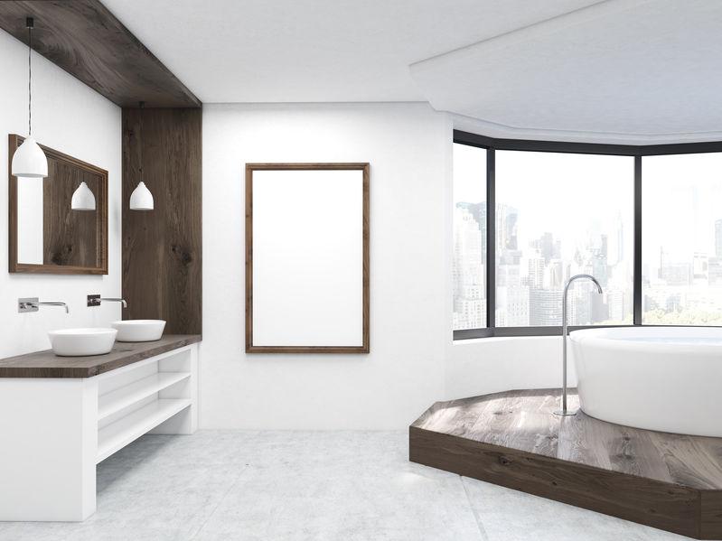 angolo vasca da bagno rialzato