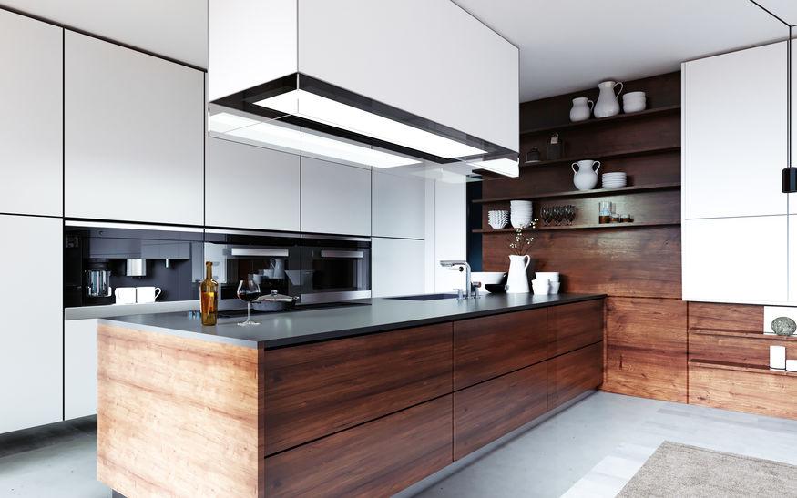 cucina minimal con penisola