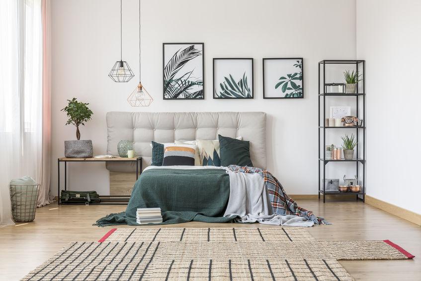 tappeto asimmetrico per camera da letto