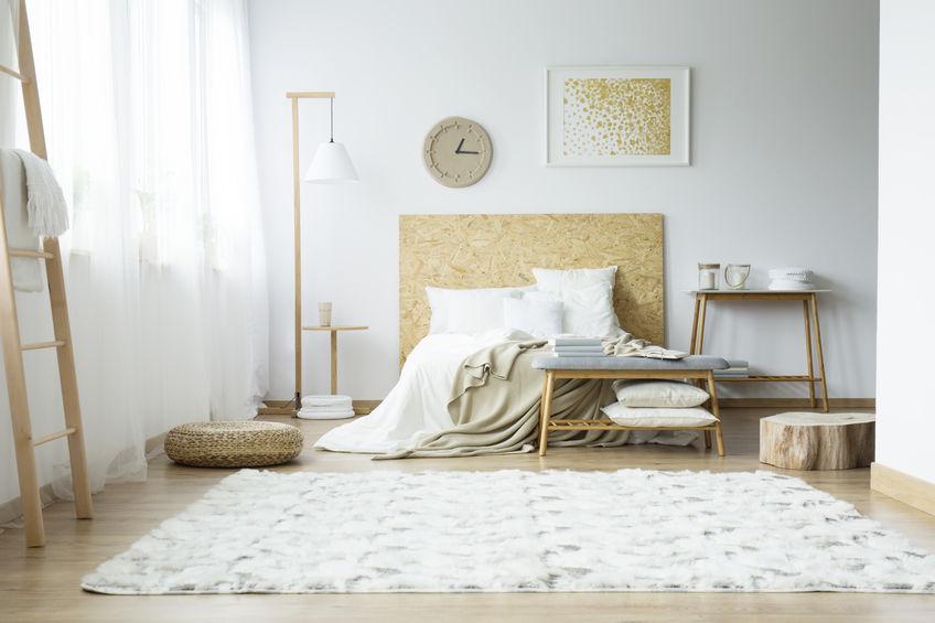 tappeto rettangolare morbido in camera da letto