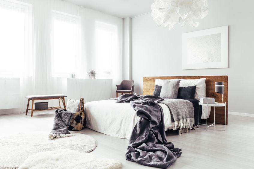 mix&match di tappeti in camera da letto