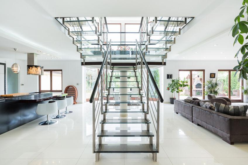 Scale in casa in vetro