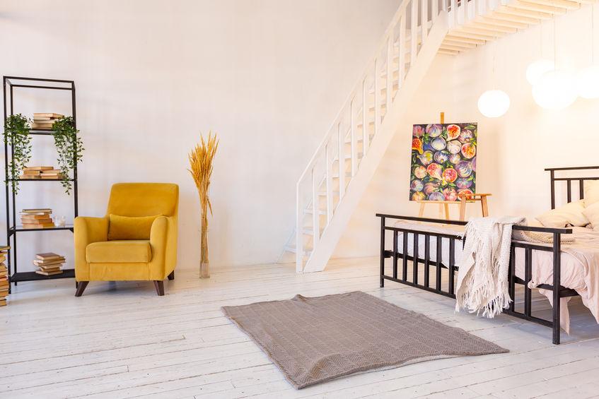 Pied-à-terre e camera da letto minimal