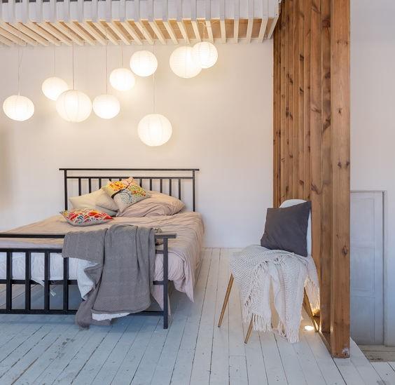 Pied-à-terre e camera da letto scandinava