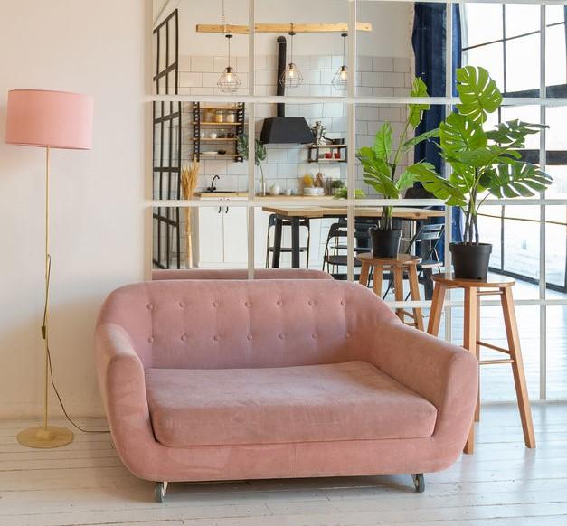 Pied-à-terre con living e soggiorno contemporaneo