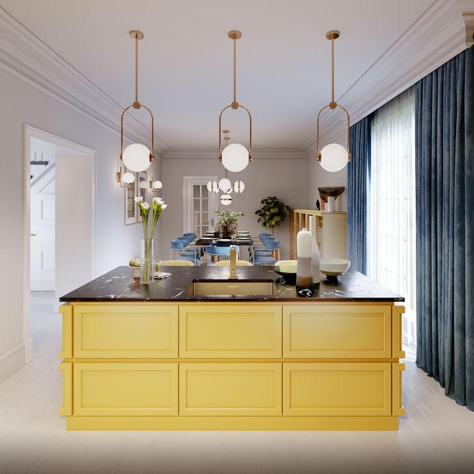 cucina gialla di design
