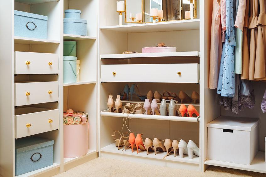 scatole per organizzare l'armadio
