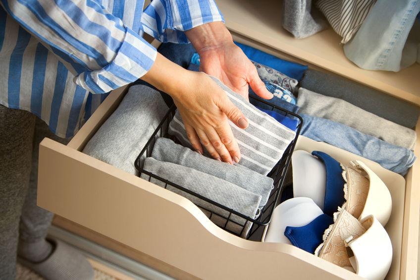 organizzare i cassetti della biancheria
