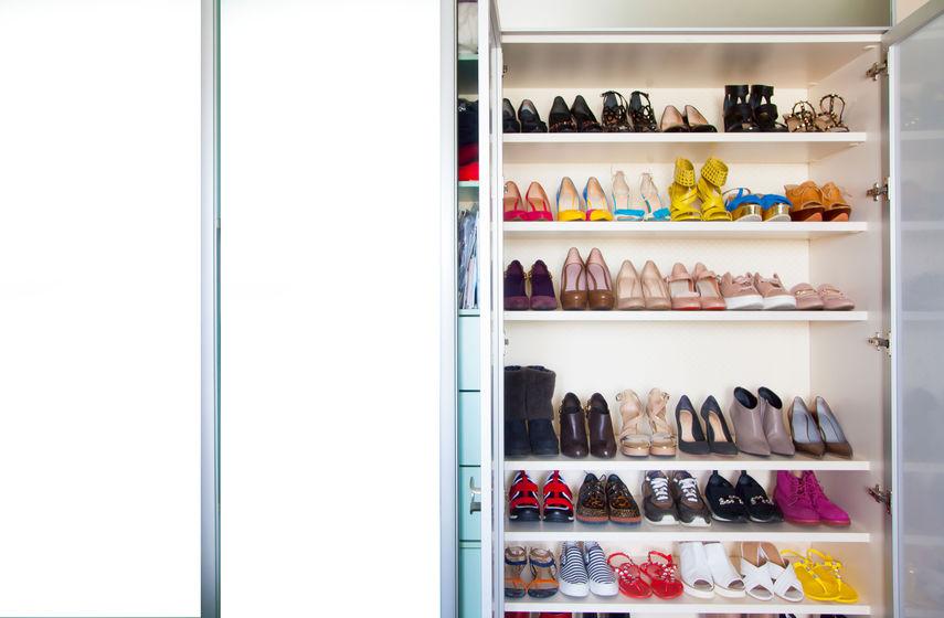 organizzare le scarpe nell'armadio