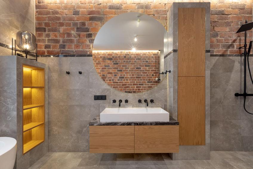 Bagno in stile loft