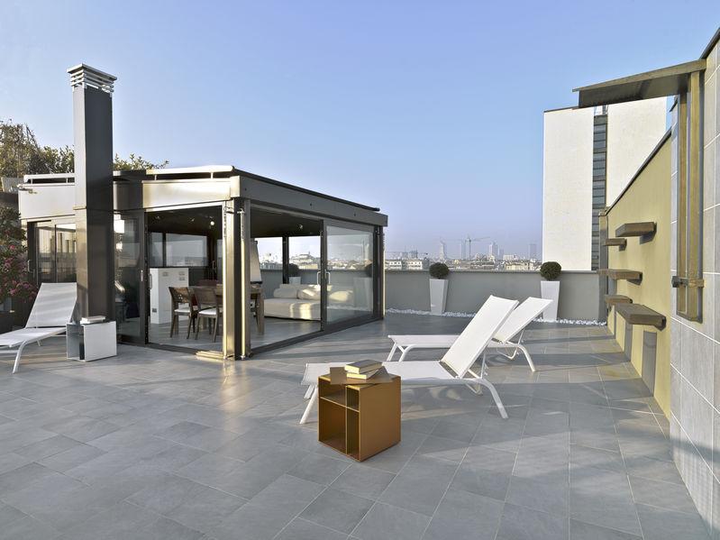 disposizione arredamento in terrazza