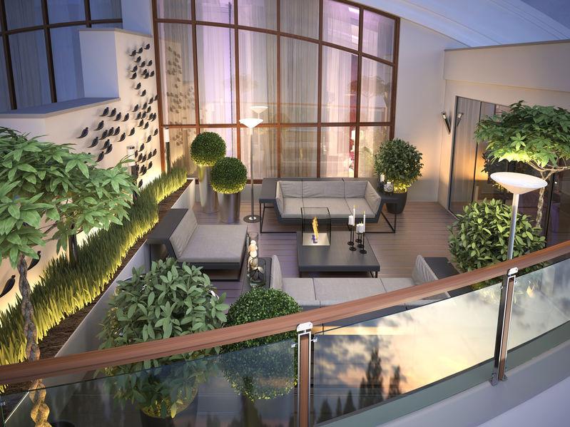 illuminazione terrazza moderna
