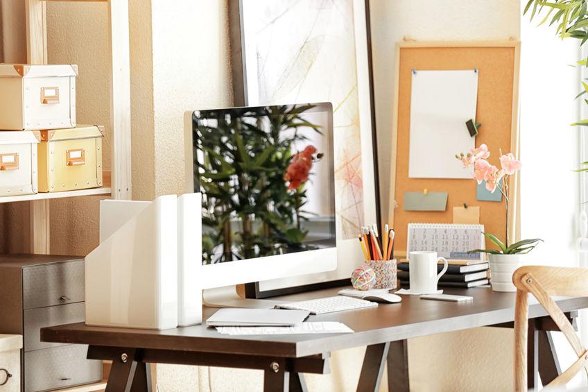 organizzare postazione di lavoro in casa