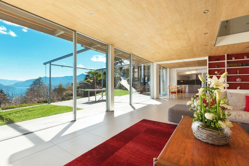 vetrate panoramiche in alluminio