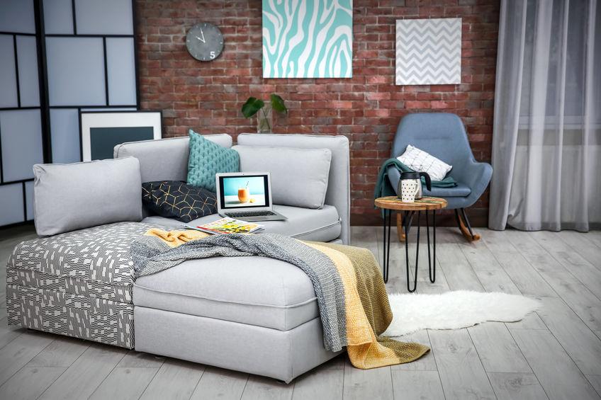 divano e isola in simbiosi