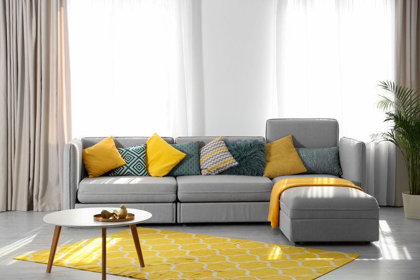 divano modulare con penisola
