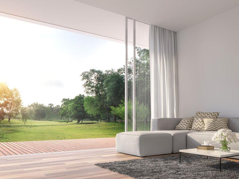 divano modulare con chaise longue