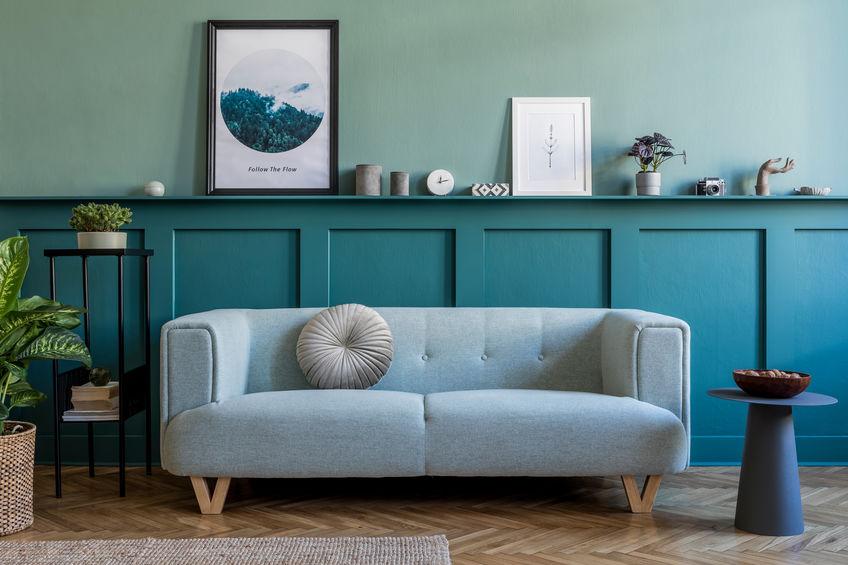 Come arredare la parete del divano