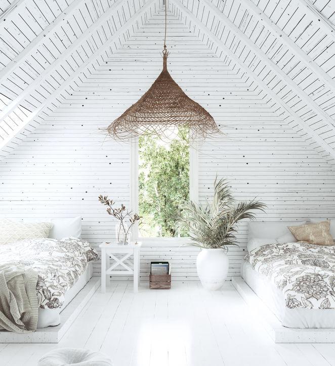 Stile bohemian jungle e luce naturale