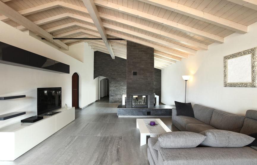 Travi a vista in legno come disporle in casa
