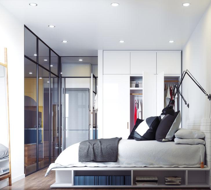 Come arredare ambienti lunghi e stretti: la camera da letto