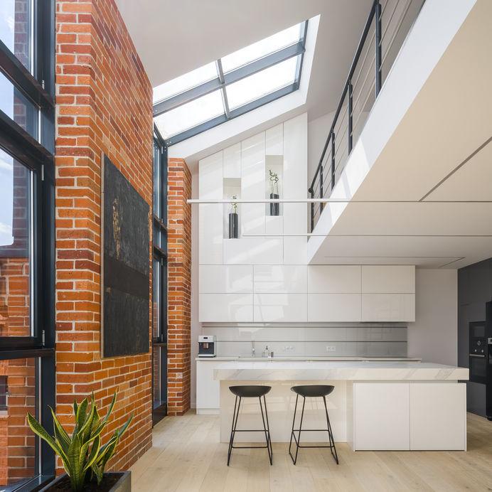 Loft in stile industriale: cucina