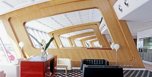 Archisio - Furrer - Progetto Sydney airport qantas first lounge